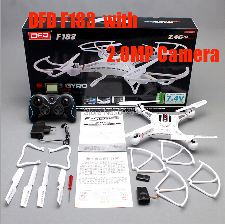 DFD F183C 4-CH 360 Roll-over 2.4GHz Radio Control RC Quadcopter with 6-Axis Gyro RTF with 2MP HD Camera RC Helicopter