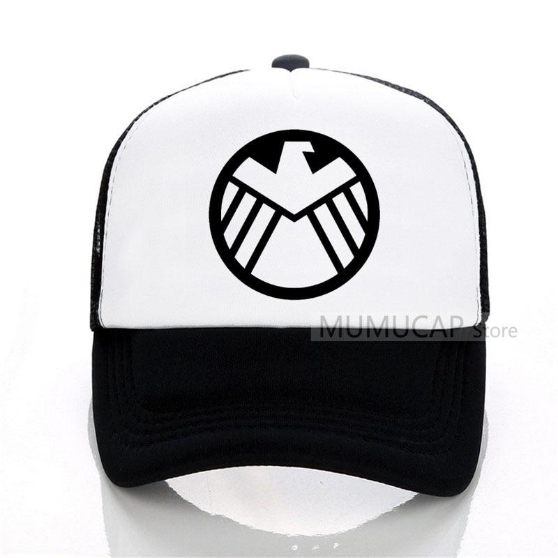 Detail Feedback Questions about Marvel Agents of S.H.I.E.L.D. Shield  Baseball Caps summer Captain America women men Printed Mesh Caps Hot  Baseball Mesh ... d07b46ea98d
