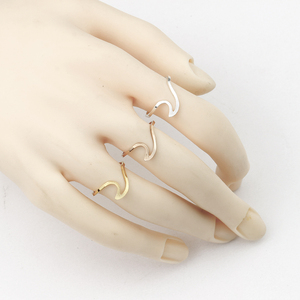 Женские и мужские волнистые кольца из нержавеющей стали, 10 шт., модные пляжные украшения для подружки невесты, подарки, BFF