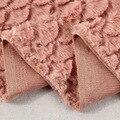 Novo Design de Luxo Casaco De Pele de Tecido em forma de leque escovado faux fur