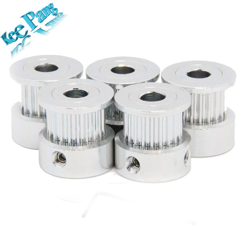 GT2 Timing Pulley 20teeth ( 20 teeth ) Alumium Bore 5mm fit for GT2 belt Width 6mm