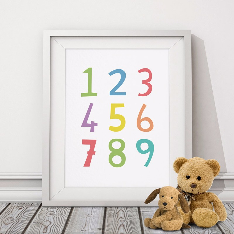 Nursery Ideas And Décor To Inspire You: Numbers Nursery Print Art Inspirational Poster