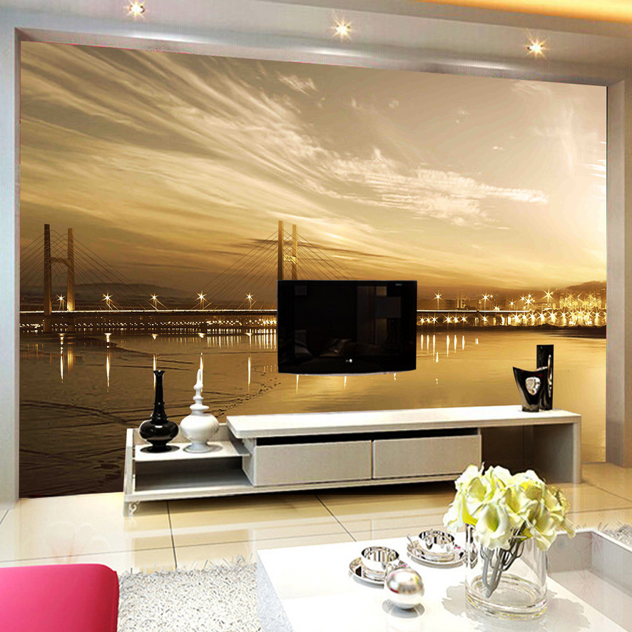 Custom Poster Photo Wallpaper For Living Room Sofa TV ...