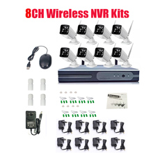 New  Plug and Play 8CH Wireless NVR Kit P2P 720P HD Outdoor IR Night Vision Security IP Camera WIFI CCTV System