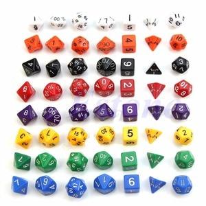 7pcs Sided Die D4 D6 D8 D10 D12 D20  for DUNGEONS&DRAGONS D&D RPG Poly Dice Game