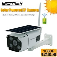 N8 HD 1080P Solar Camera Wireless Wifi Outdoor Indoor Security Bullet IP Camera with Solar Panel Rechargeable Battery