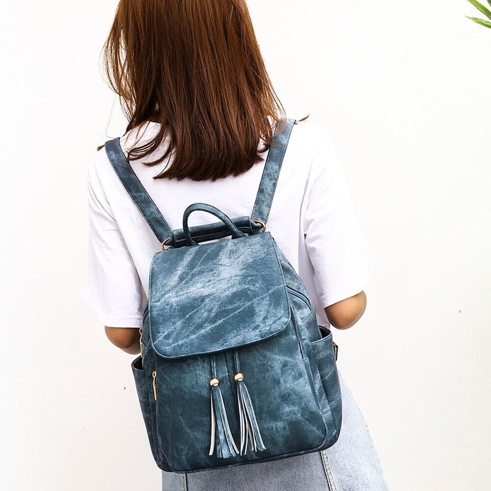 2019 nouveau mode gland femmes sac à dos Style Preppy épaule sacs à dos sacs à dos en cuir PU imperméable à l'eau sac à dos en cuir de jeunesse