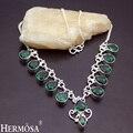 Turmalina verde últimas lindo pretty womens collar de eslabones de cadena de plata esterlina 925 19 pulgadas ny119 hermosa joyería