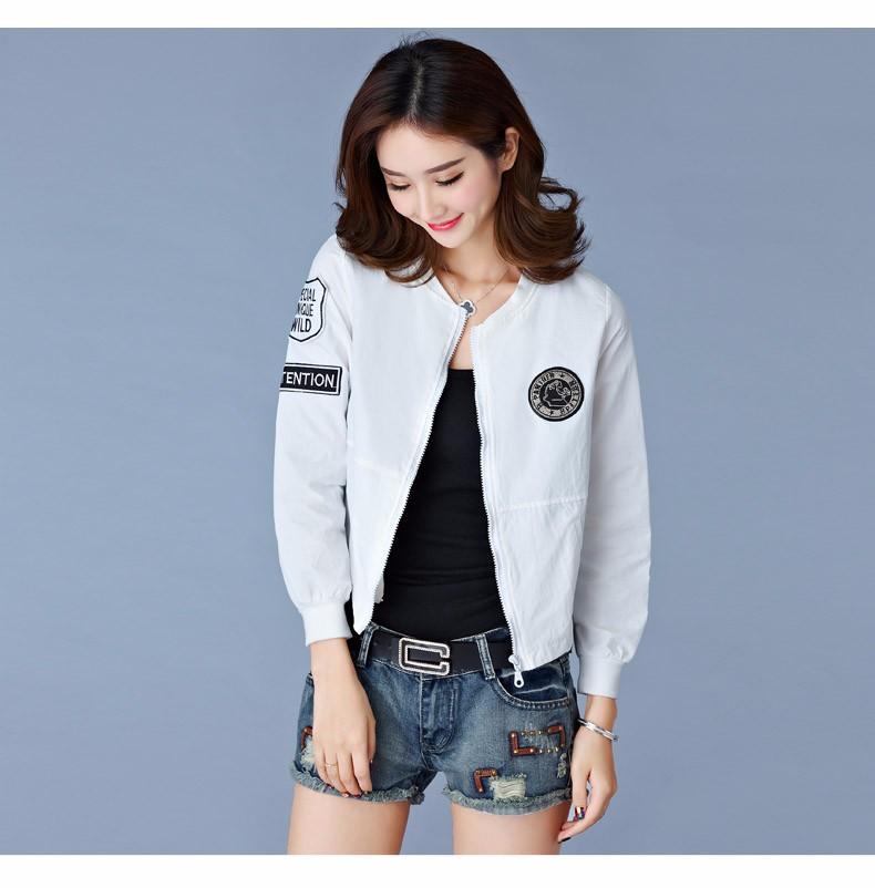 7 Colors Spring Summer Jacket Women Leisure Loose Plus Size Coat O Neck Long Sleeve Autumn Sport Jackets Casaco Feminino 2016 A8 C