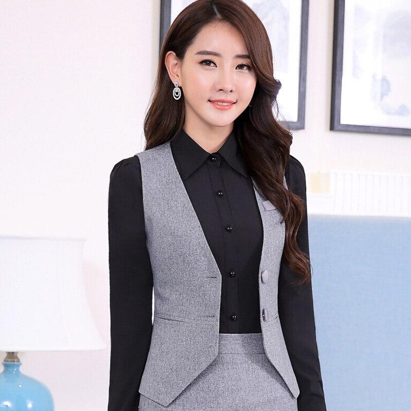 eab7a2a536e18 Professional ol Business formal female stripe vest pants suits fashion slim  office ladies plus size work ...