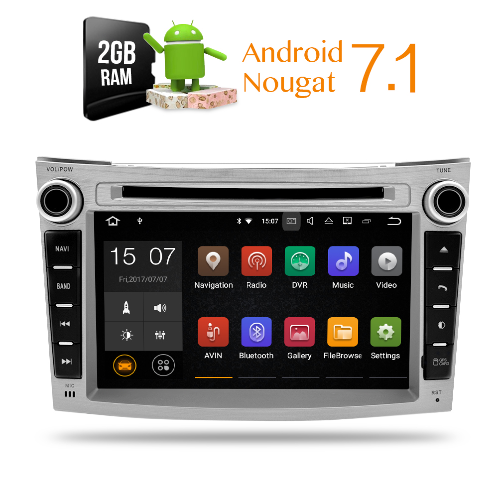 2 gb RAM Android 7.1 Autoradio Lecteur DVD GPS Glonass Navigation pour Subaru Legacy Outback 2008 + Vidéo Multimédia radio headunit