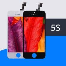 10 pçs/lote 100% topo sem pixel morto aaa para iphone 5S lcd tela de substituição pantalla teste um por um frete grátis dhl