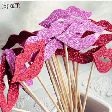 cheap 10x fashion funny lip diy photo props booth photography props kids birthday cake topper wedding decoration party supplies - Cheap Halloween Props