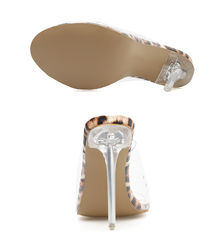 Eilyken 2019 PVC Jelly Sandals Open Toe High Heels Women Transparent Perspex Slippers Shoes Heel Clear Sandals size 35-42