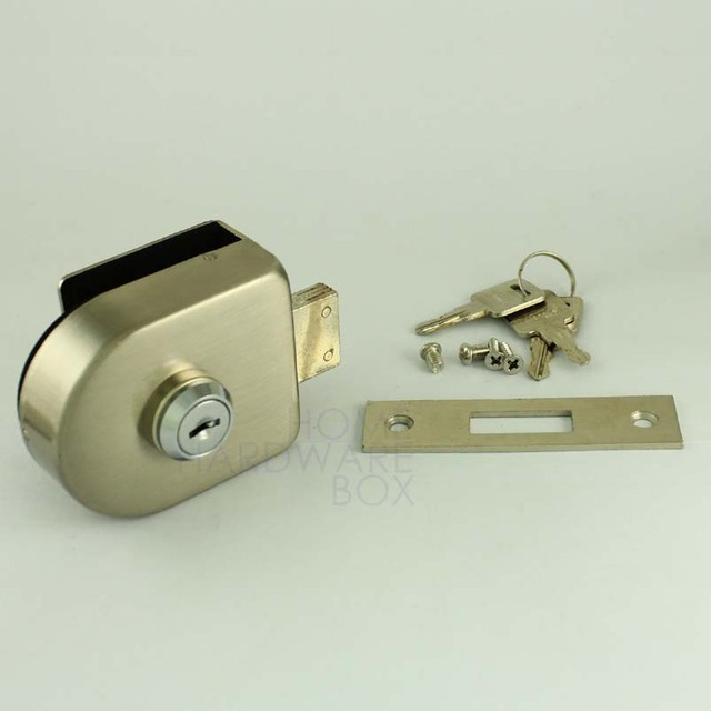 Glass To Wall Floor Frame Door Lock Single Swing Hinged Door