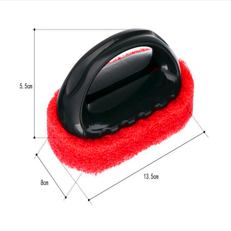 High quality strong decontamination sponge handle hard bottom cleaning brush to brush the floor tile stove bath rub rub