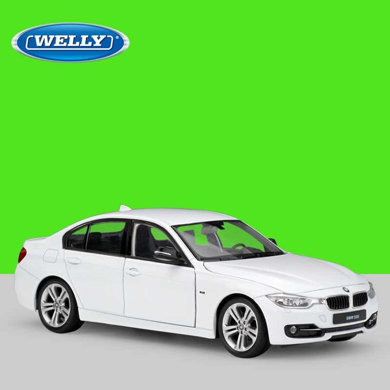1:24 Welly BMW 335i white/red Diecast Model Car