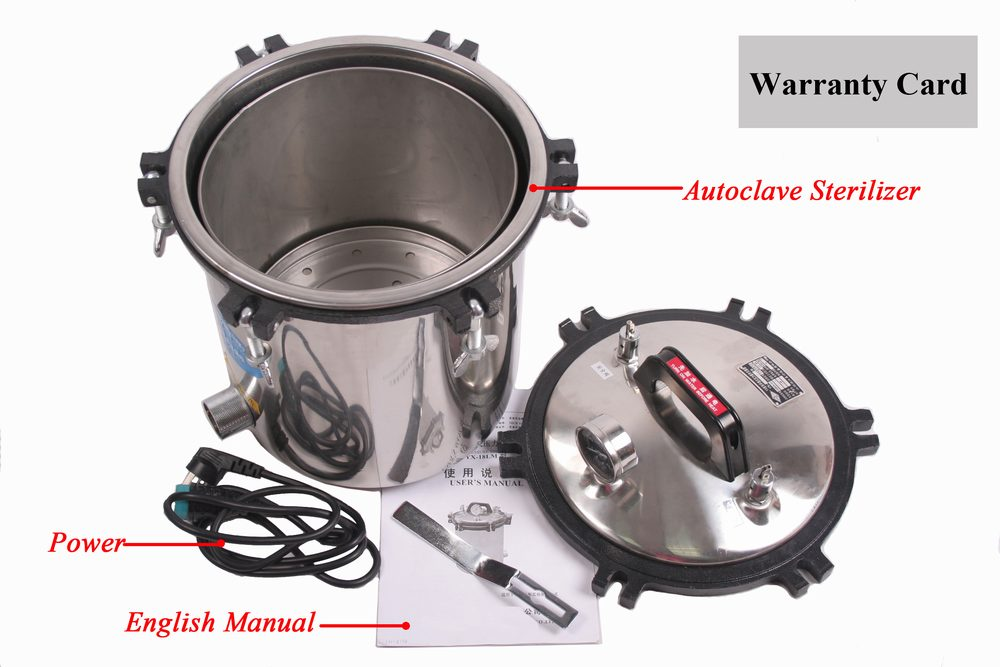 Wholoseller Price Brand New 18 Liter Steam Autoclave Sterilizer Tattoo Dental Commercial Unit