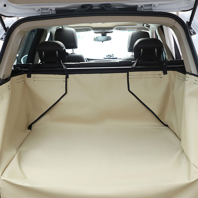 Pet Dog Car Seat Covers Solid Waterproof Dog SUV Back Seat Carrier Travel Accessories 600D Oxford Car Trunk Mat Seat Protector 2