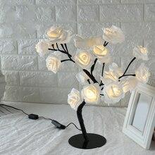 Table lamp led  3d Rose Fairy lighting Flower Decorative Light for Living Bedroom Christmas Party Wedding Xmas -kk