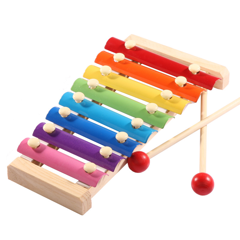 Musical Instrument Toy 8 Scales Wooden Frame Style Xylophone Kids Musical Funny Toys Baby Educational Toys Children Gifts
