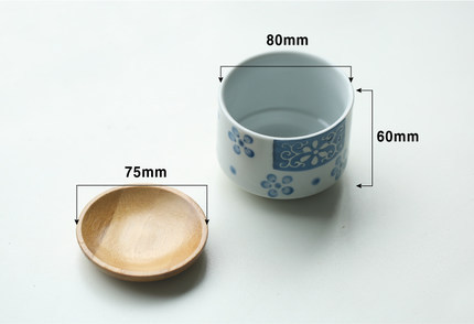 (2 pieces a lot)Japanese wind small ceramic pots