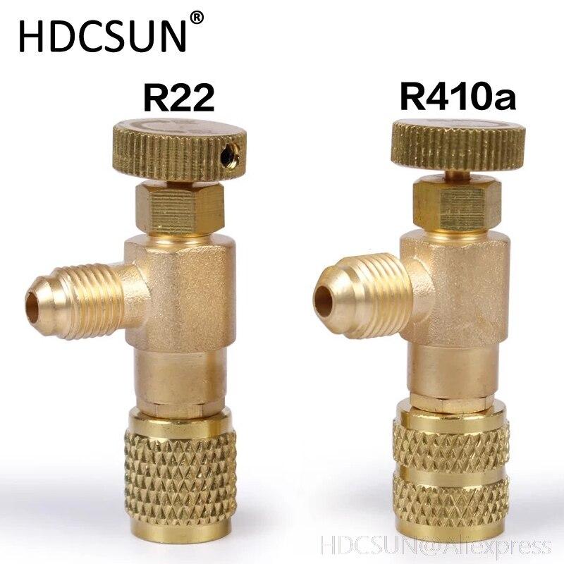 2pcs Plus Liquid Safety Valve R410A R22 Air Conditioning Refrigerant 1/4