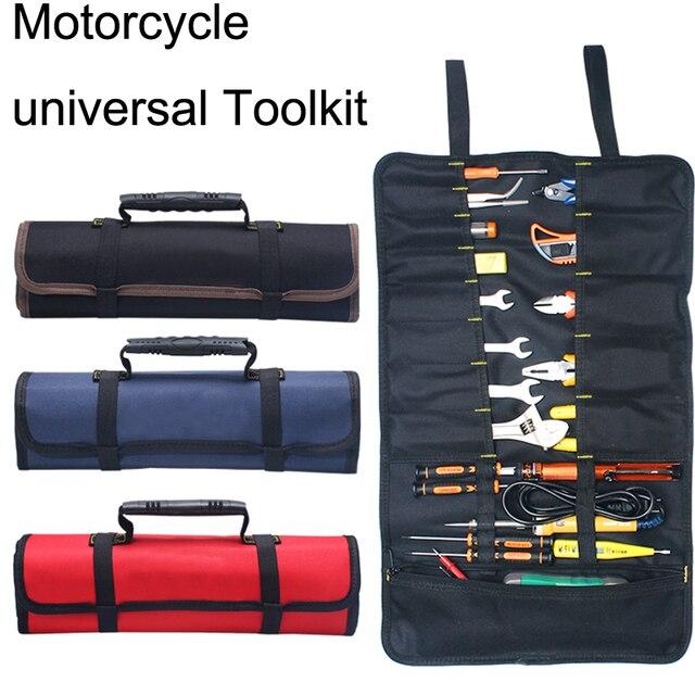 אוניברסלי אופנוע כלים תיק תכליתי אוקספורד כיס Toolkit התגלגל תיק נייד גדול קיבולת שקיות עבור BMW R1200GS