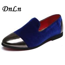 New Handmade Men Velvet Loafers Shoes Black Blue Red Slippers Wedding And Party Dress Bottom Flats 17D50