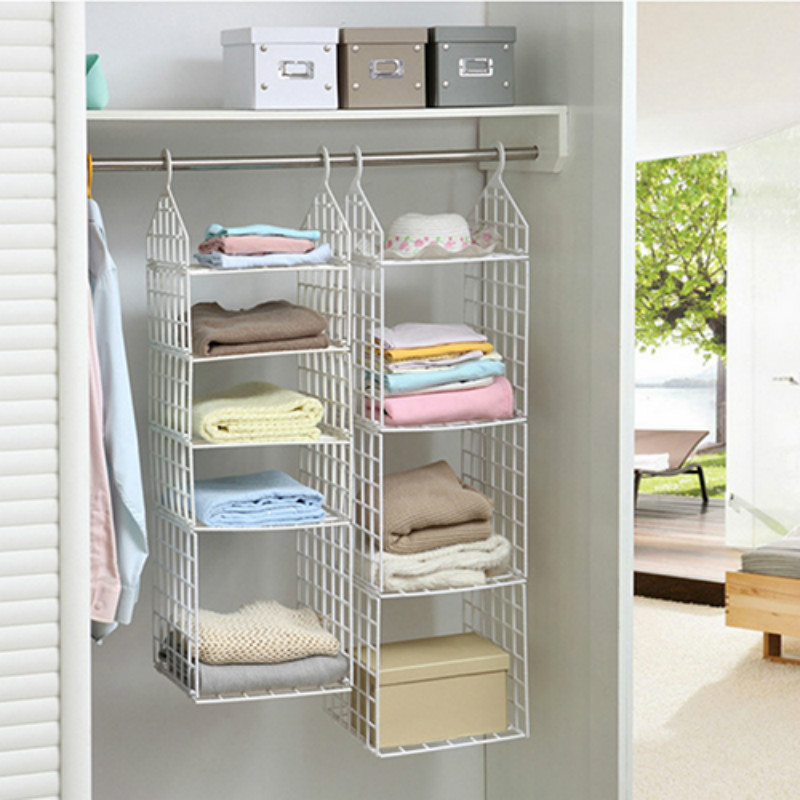 Wall Shelf 4 Size Style Hang Suspension Clothing Cabinet Combination Storage Rack Home Furnishing In Holders Racks From
