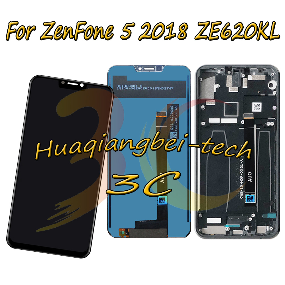 6.2 New For Asus ZenFone 5 2018 ZE620KL X00QD Full LCD DIsplay + Touch Screen Digitizer Assembly With Frame 100% Tested 6.2 New For Asus ZenFone 5 2018 ZE620KL X00QD Full LCD DIsplay + Touch Screen Digitizer Assembly With Frame 100% Tested