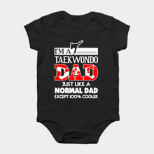 Baby Onesie Baby Bodysuits kid t shirt Funny novelty Taekwondo Dad Shirt cool(China)