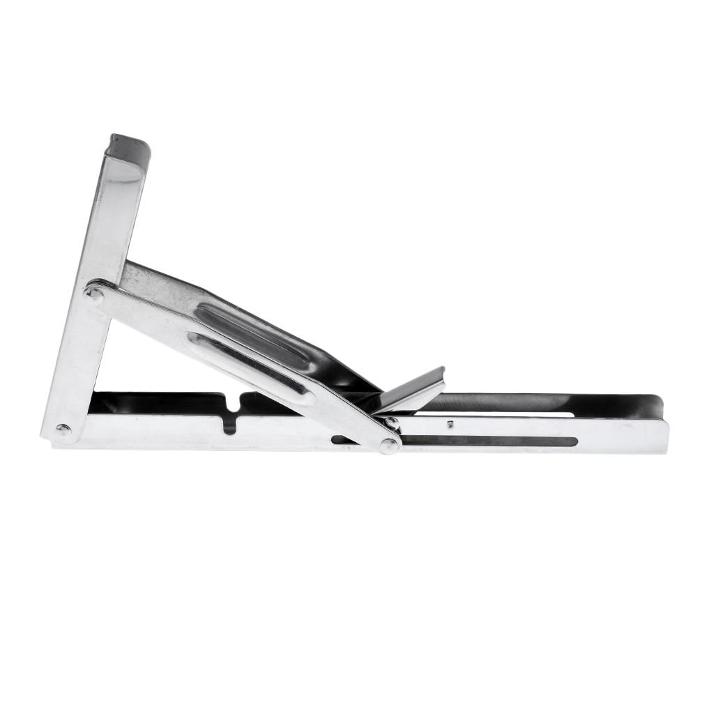 Image 3 - Polished 304 Stainless Steel Folding Bench Shelf Table Bracket Boat RV Parts Marine Hardware tranche du banc Soporte de estante-in Marine Hardware from Automobiles & Motorcycles