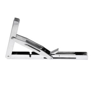 Image 3 - Polished 304 Stainless Steel Folding Bench Shelf Table Bracket Boat RV Parts Marine Hardware tranche du banc Soporte de estante
