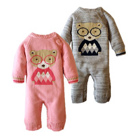 Winter Cotton Baby Rompers Clothing Polar Fleece Coveralls Knit Hooded Romper Cute Bear Next Body Boys