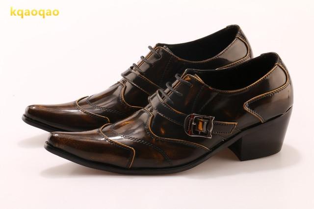 Kqaoqao Vintage British Style 2018 New Men Dress Shoes Fashion