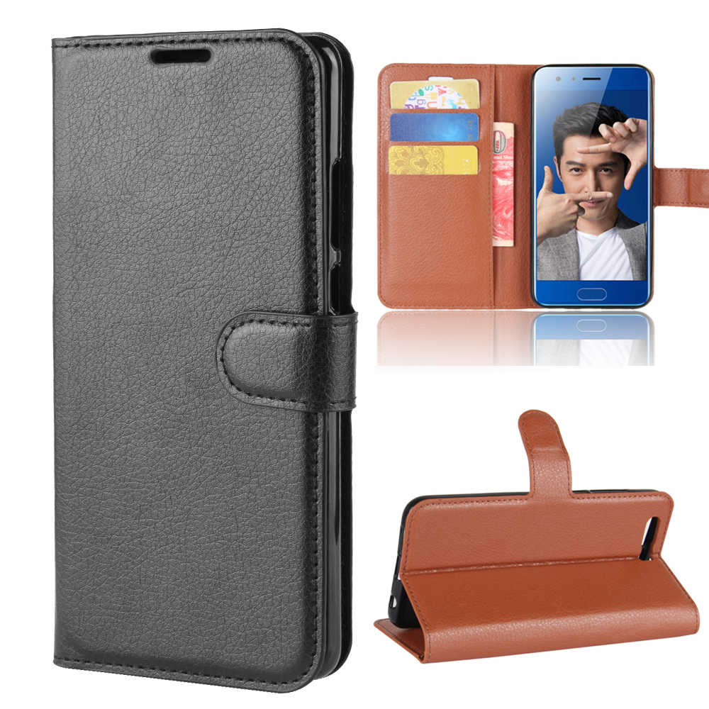 "Wallet case Card Holder Phone Cases for Huawei Honor 9 5.15"" pu Leather Cover Case Protective holster"