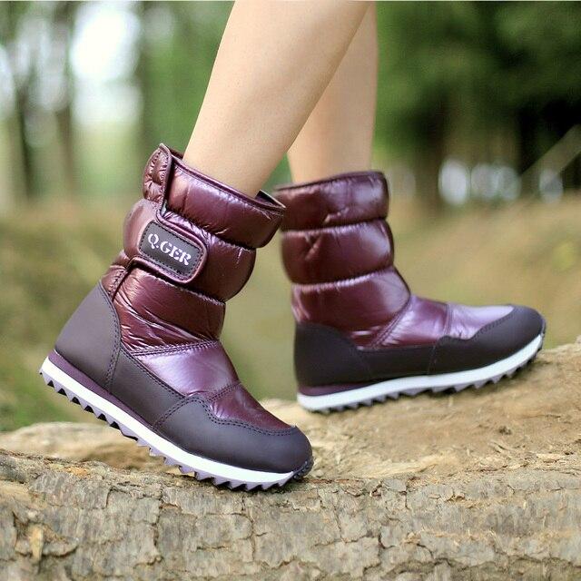 Китай Top Brand ботинки детей 2104 детей Зимняя обувь мальчикам & девочкам ботинки водонепроницаемые скольжению Мода Дети снега сапоги