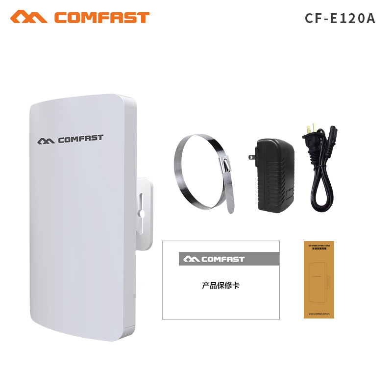 1-2KM 2018 Comfast 300Mbps 5.8Ghz outdoor mini cpe wireless bridge with 11dBi WI-FI Antenna CF-E120A WIFI repeater Nanostation love it джинсовые брюки
