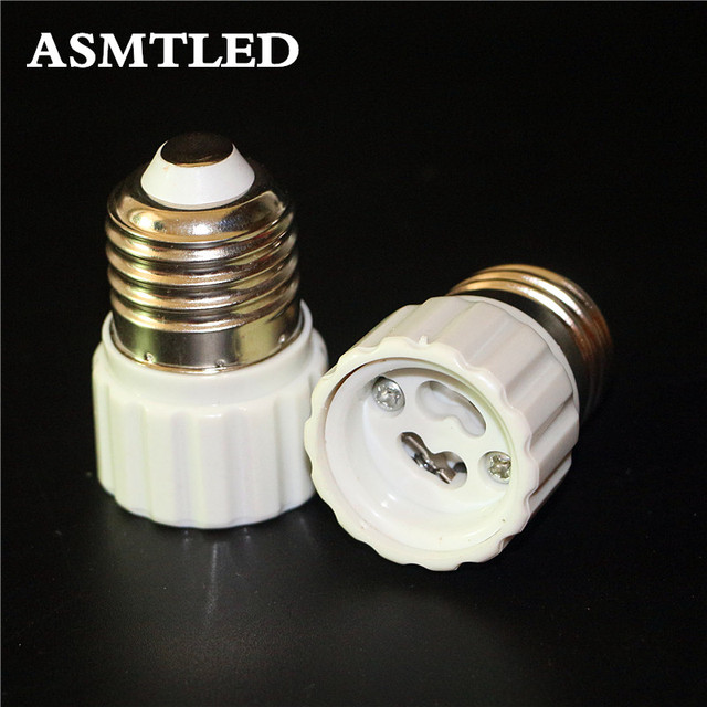 ASMTLED 1Pcs E27 to GU10 Fireproof Material lamp Holder Converters Socket Adapter light Bulb Base Type