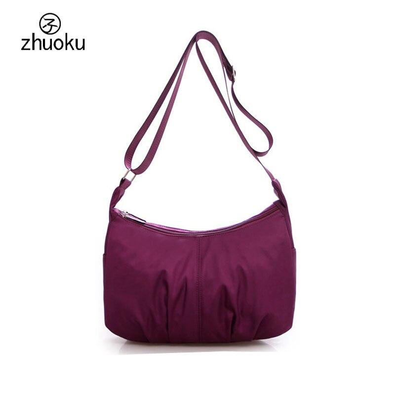 zhuoku High capacity women bag original unequal shoulder bag Double zipper Water