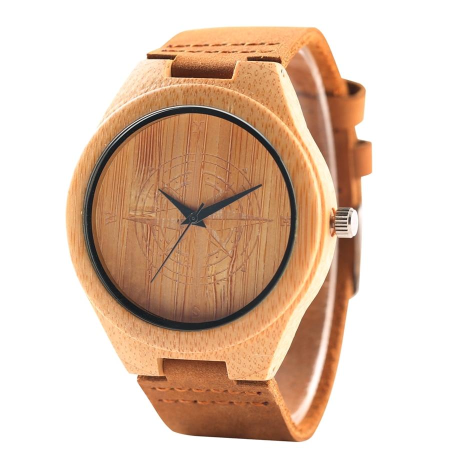 Unique Handmade Bamboo Wooden Clock Gifts Casual Quartz Wristwatch Watches Men Watches Top Brand Luxury relogio masculino (15)
