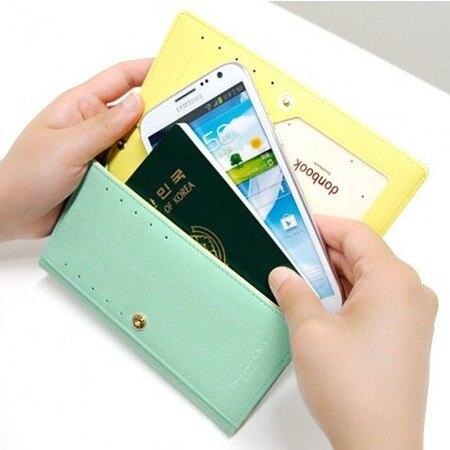 3b9b204b7 Novas mulheres cartões de dinheiro de bolso do telefone saco mulheres  carteiras de couro bolsa de moda feminina PU carteiras senhoras carteira  bolsas de ...