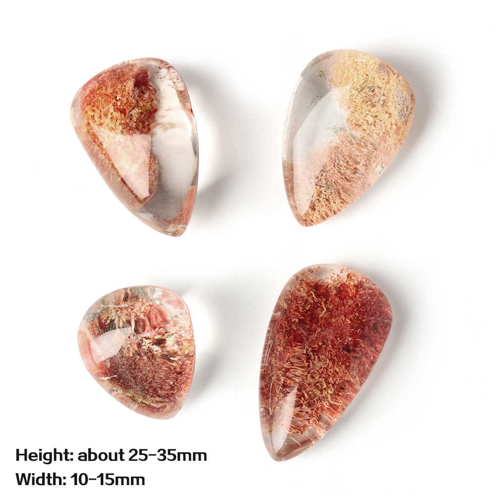 Tangan Dipoles Proses dengan 100% Fluor Alami Batu Permata Alami Hantu Kristal Phantom Batu Penyembuhan Ornamen Liontin Kuarsa