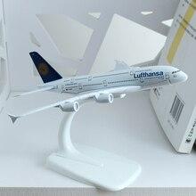 16 см немецкий Lufthansa Airlines модель самолета A380 Объединенные Арабские Эмираты Африка тайская Франция QANTAS Airbus Модель самолета 1:400