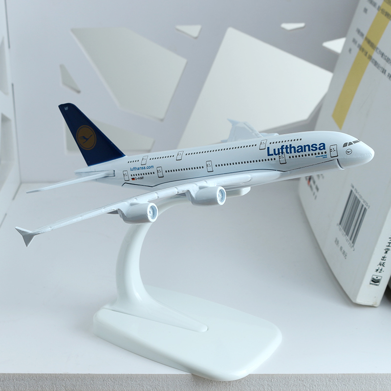 16cm German Lufthansa Airlines Airplane Model A380 United Arab Emirates Africa THAI France QANTAS Airbus Aircraft Model 1:400 image