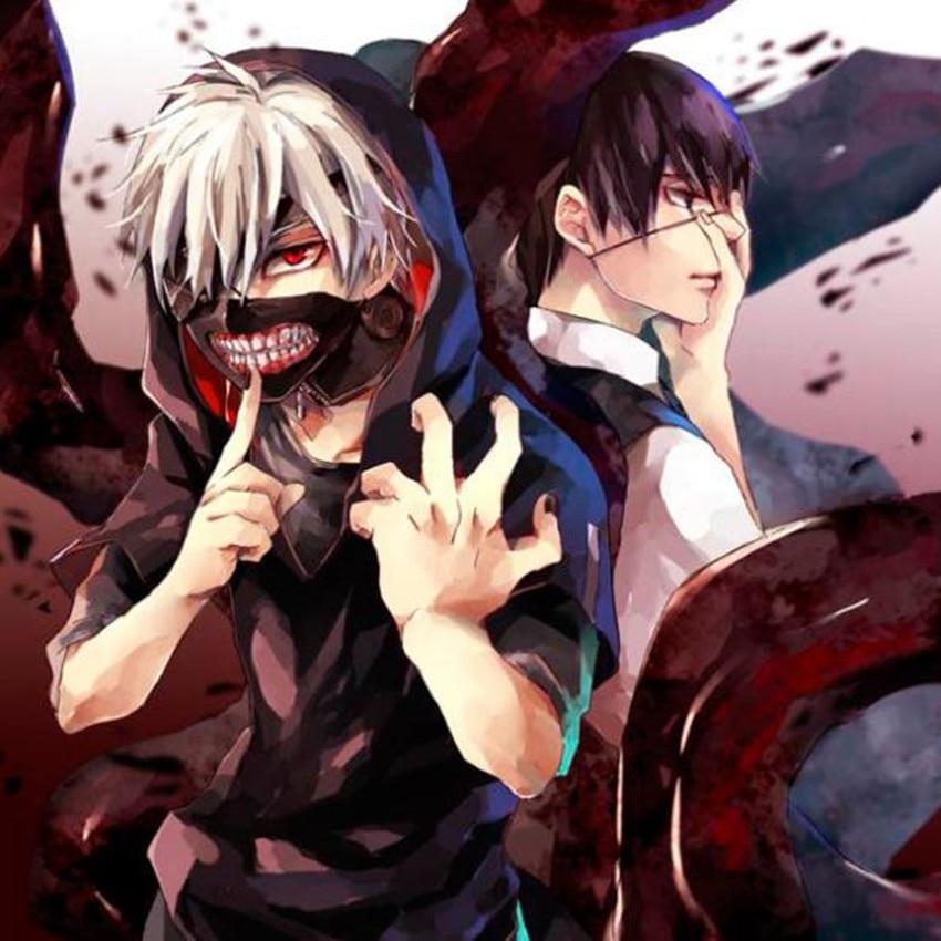 Tokyo Ghoul Zipper Masker Anime Cosplay Ritsleting Keren Mulut Katun Partai Blinder Kaneki Ken Aksesoris Di Dari