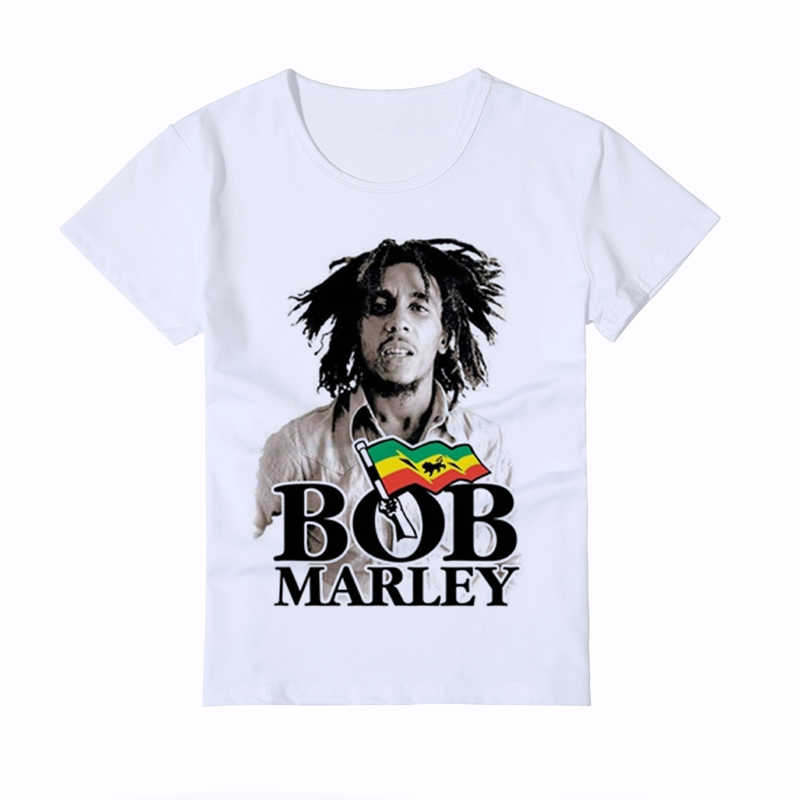 Bob Marley Children's T Shirt Kids New Fashion Smoking Printed Baby Tee Shirt Homme Casual Boy Girl T shirt Brand Clothing Y3-4