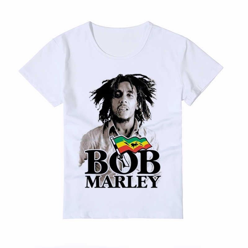 51dfb477 Bob Marley Children's T Shirt Kids New Fashion Smoking Printed Baby Tee  Shirt Homme Casual Boy