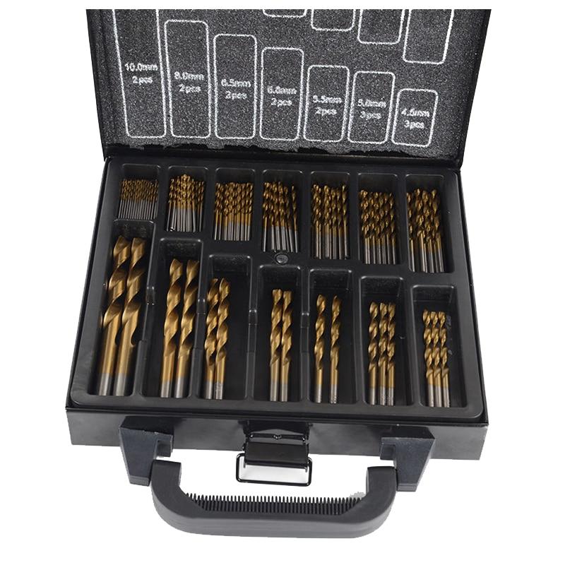 (Drop shipping) Professional Tool HSS Titanium Drill Bit Set 99Pcs Bits in Metal Storage Case(Drop shipping) Professional Tool HSS Titanium Drill Bit Set 99Pcs Bits in Metal Storage Case
